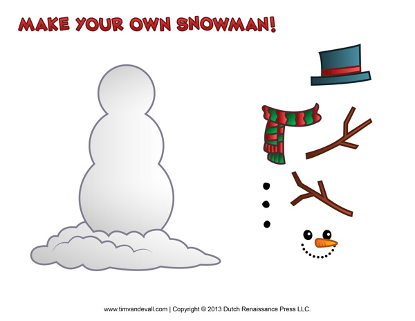 free printable snowman template