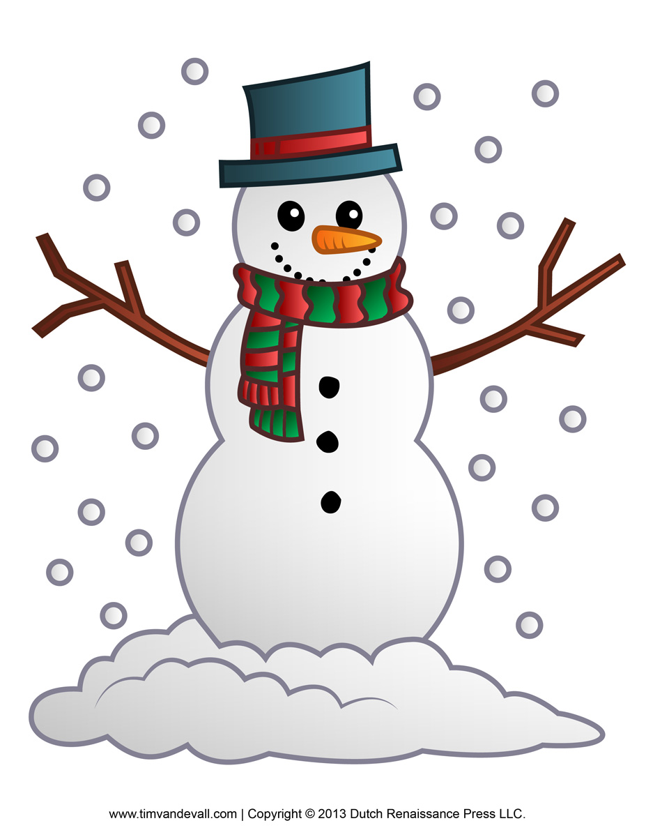 Free snowman clipart template printable coloring pages for Snowman templates free