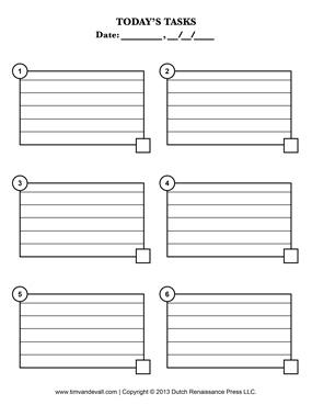task list printable
