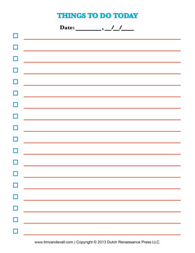 Lovely Blank Checklist Templates On Blank Checklist Template