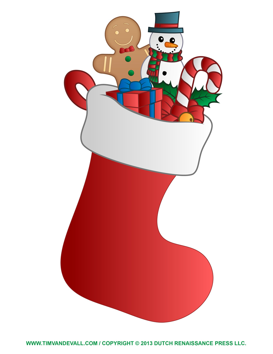 Free Christmas Stocking Template Clip Art Amp Decorations