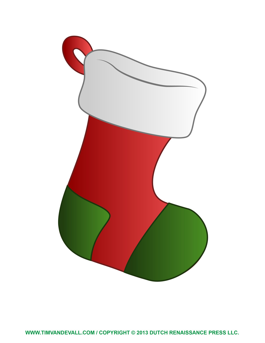 Printable Christmas Stocking Clipart