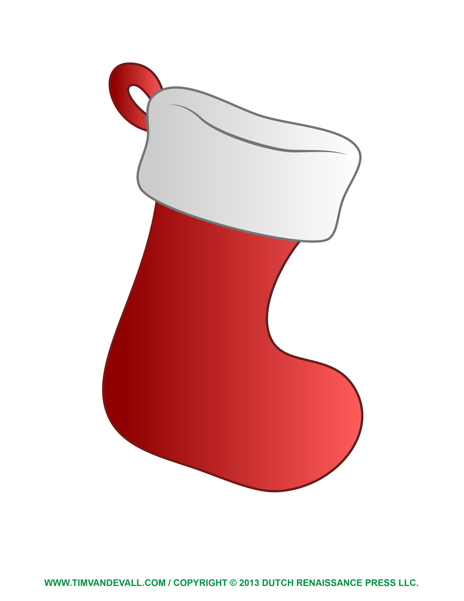 image about Christmas Stocking Printable identified as Cost-free Xmas Stocking Template, Clip Artwork Decorations