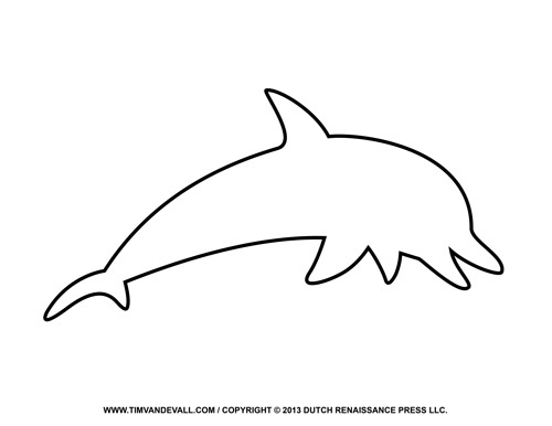 outline with any dolphin