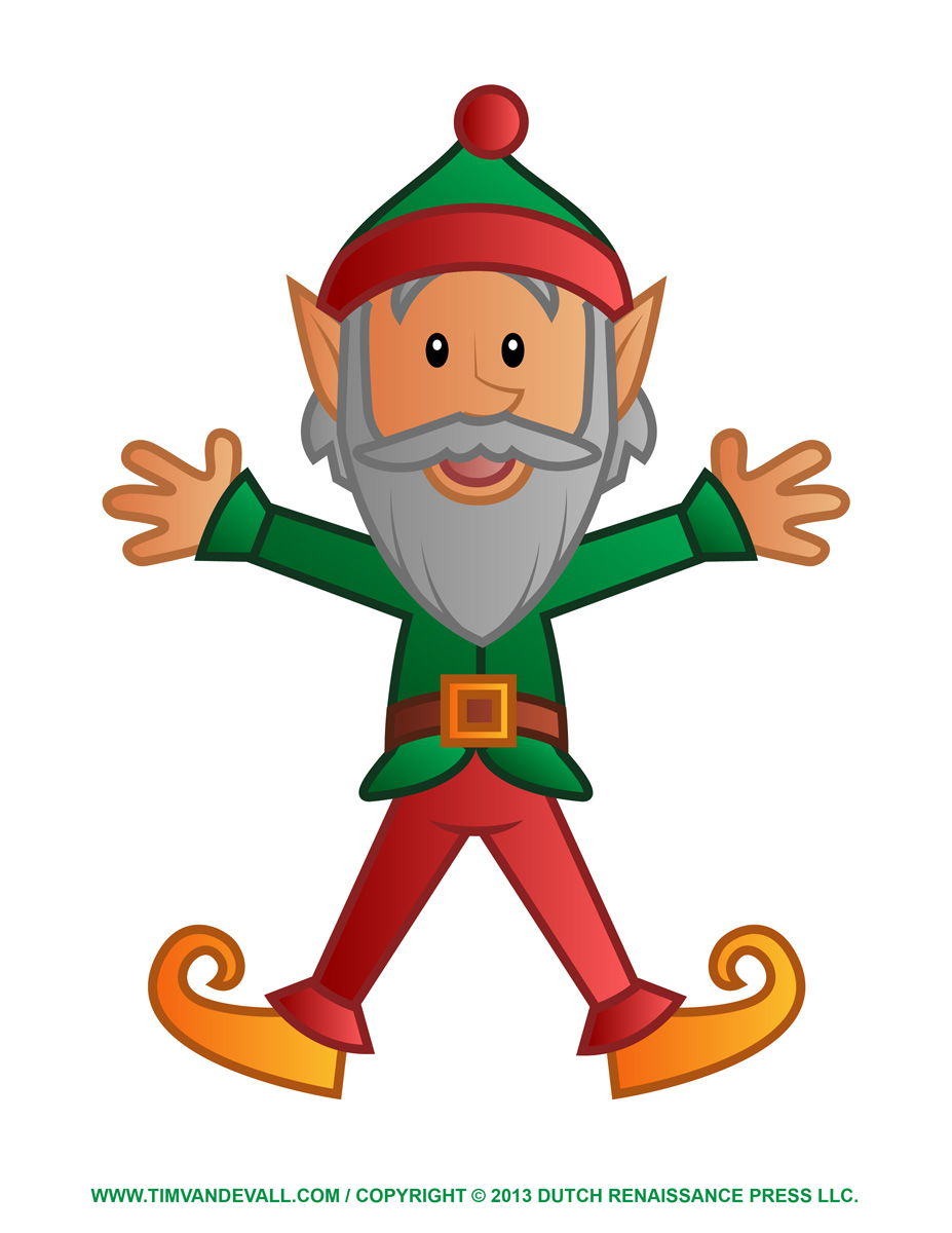printable elf clipart template amp christmas ornaments
