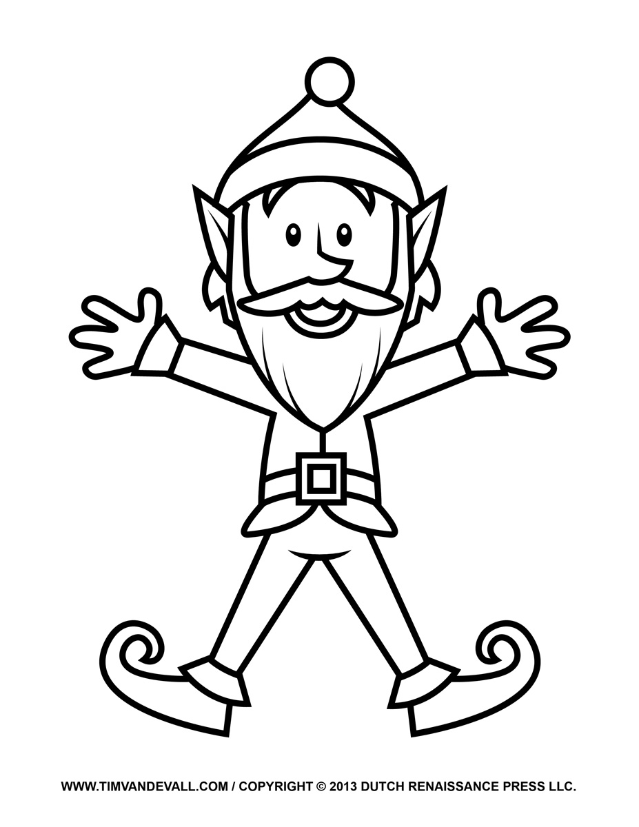 If you kids like to color, they may enjoy the following printable elf ...