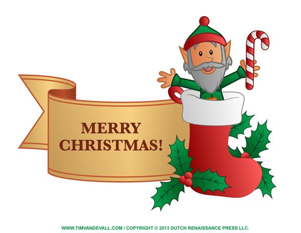 Holly Christmas Banner