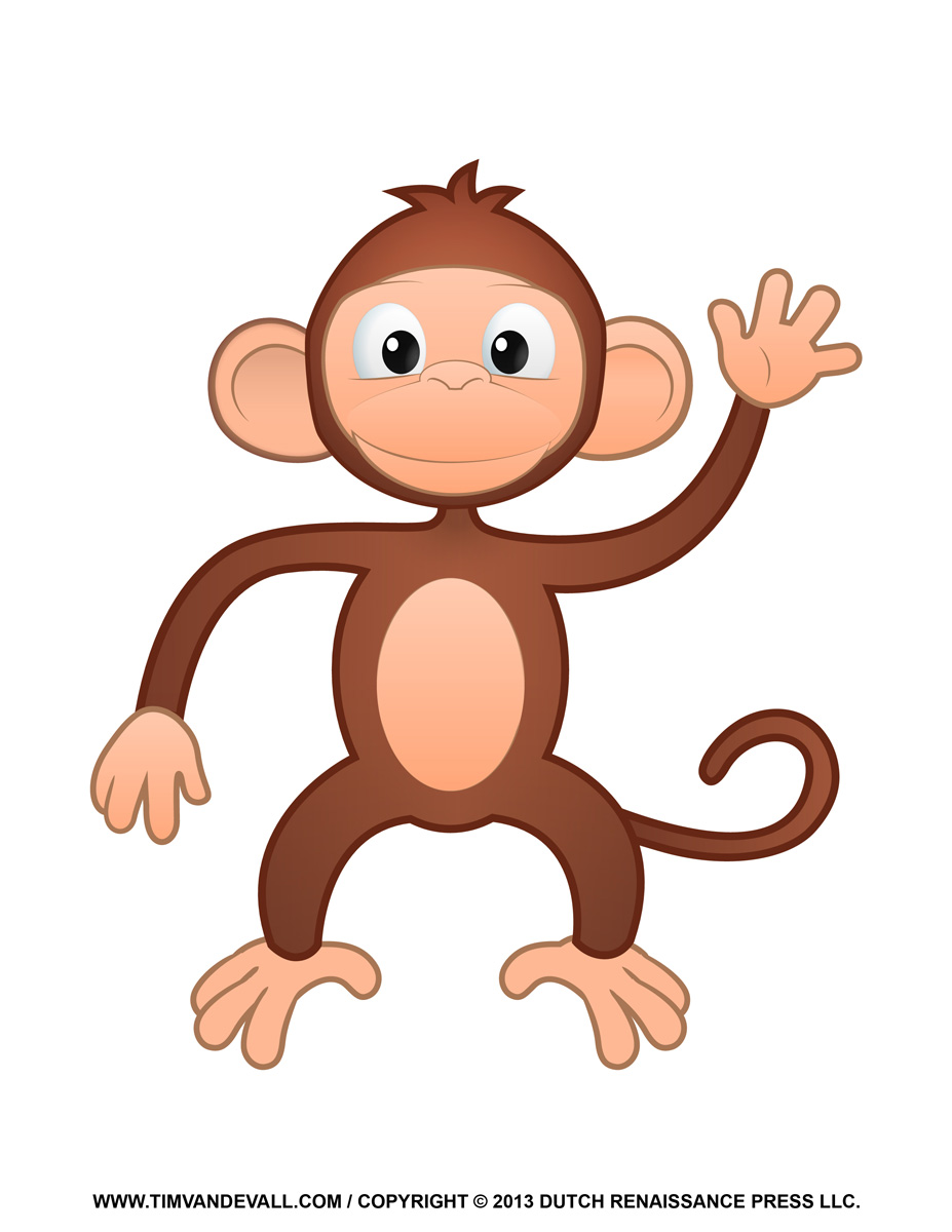 Cartoon Monkey Free Clipart