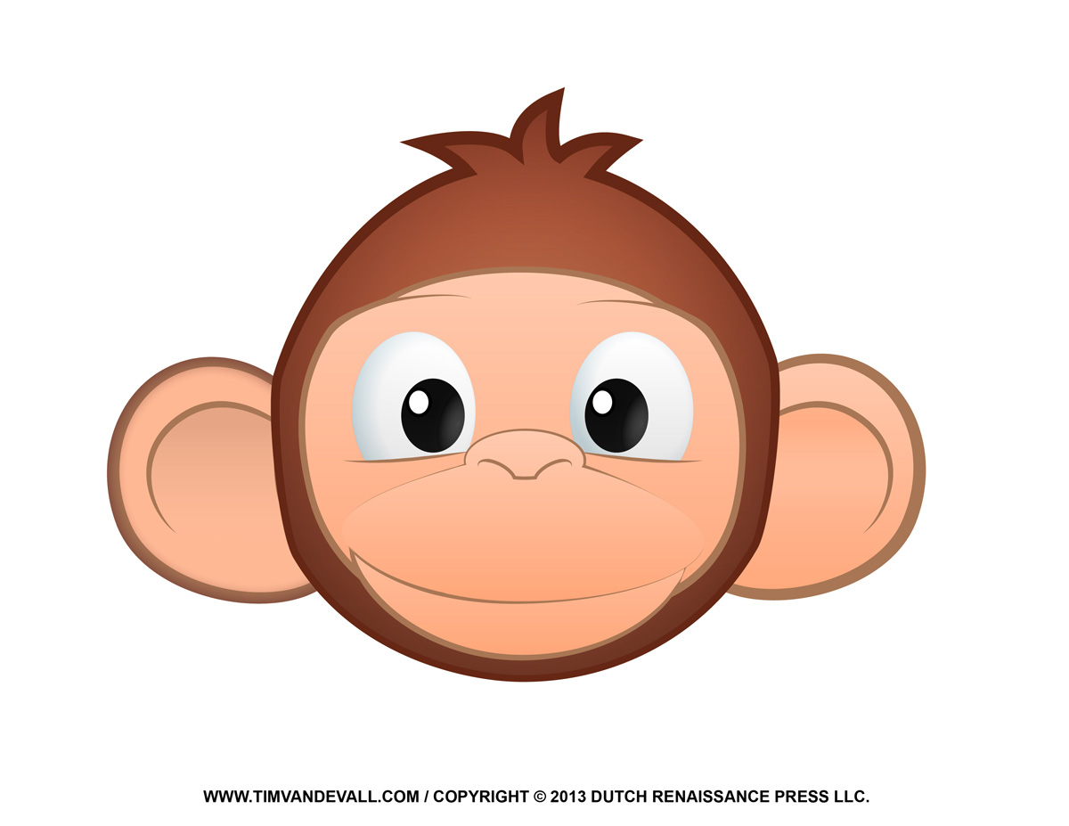 Printable Monkey Clipart, Coloring Pages, Cartoon & Crafts for Kids