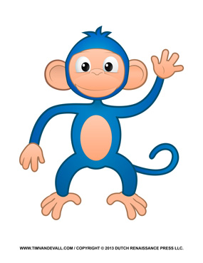 Printable Monkey Clipart Coloring