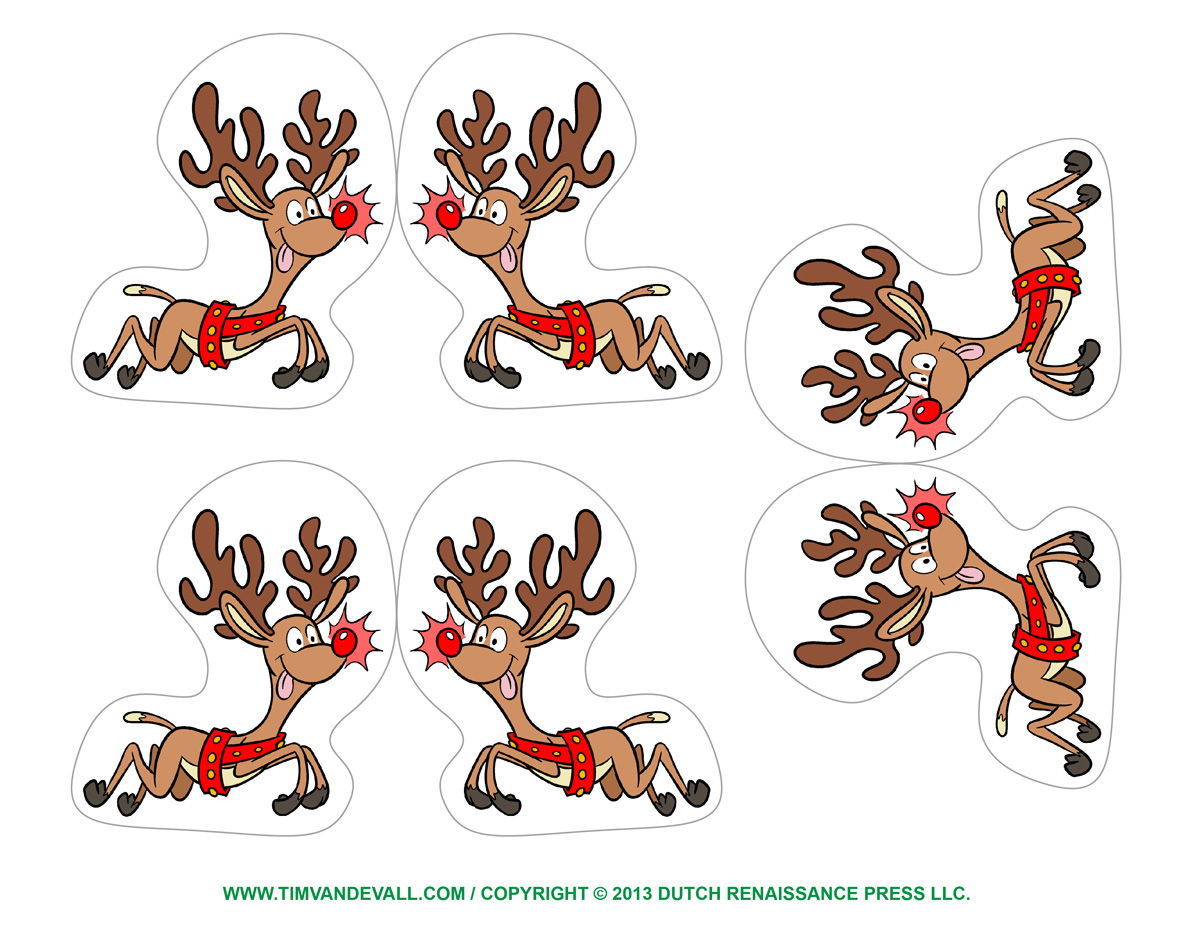 Template For A Raien Deer Search Results Calendar 2015