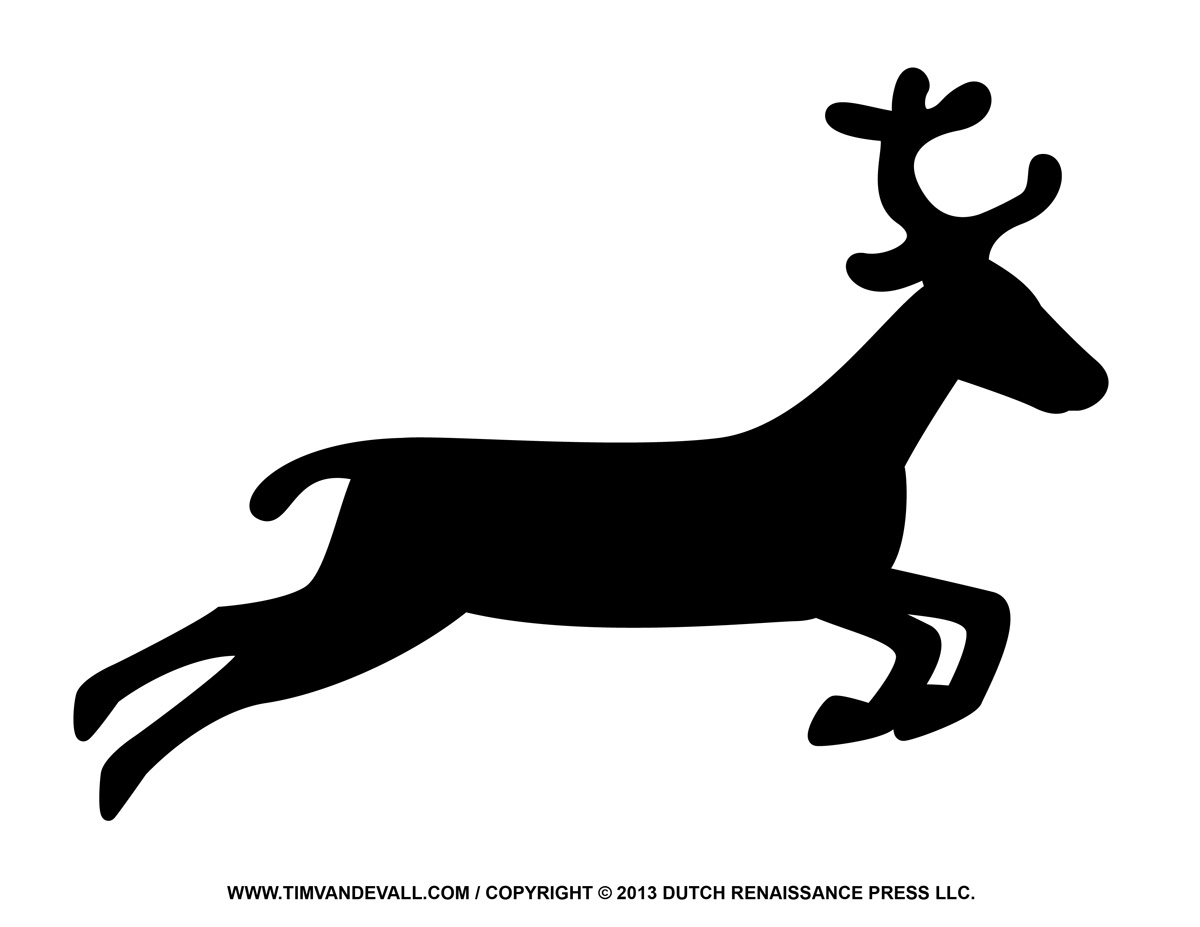 Free reindeer clipart, template, & printable coloring pages for kids