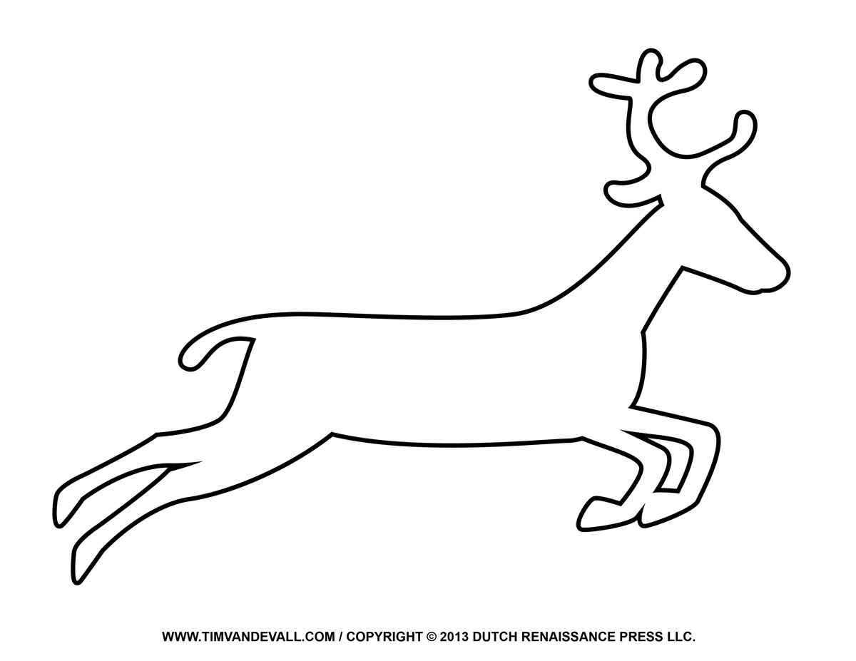 reindeer coloring pages for kids - photo#33