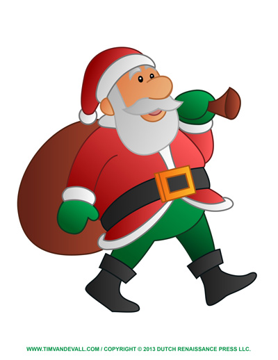 Free Santa clip art, pictures, coloring pages & letter template