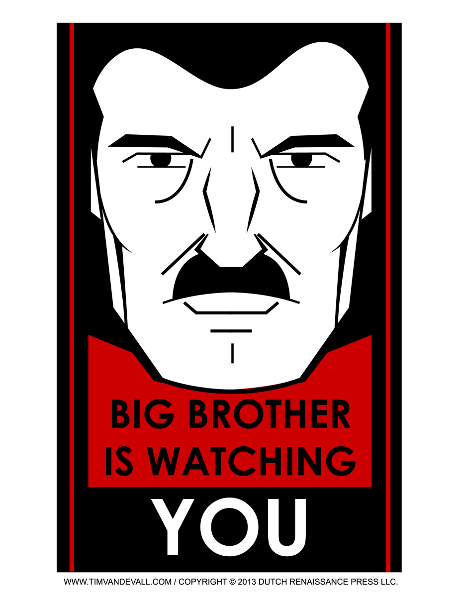 1984 big brother is watching you Big brother comes from the slogan big brother is watching you in  (from george orwell's 1984) big brother has  big brother big brother is watching you big.