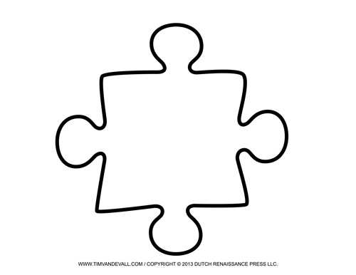 puzzle piece outline coloring pages - photo#22