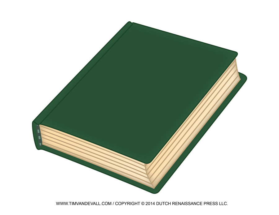 Free Blank Book Cover Template – Book Report & Reading Clip Art