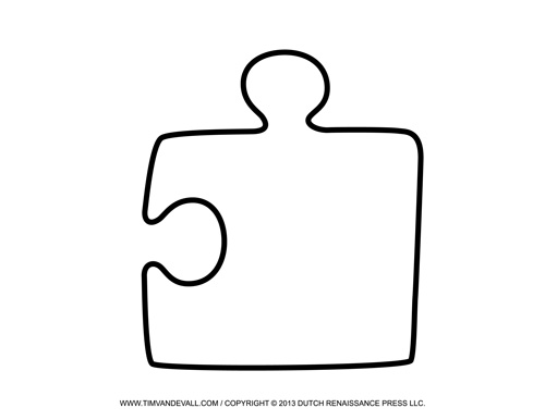 Blank Puzzle Piece Template  Free Single Puzzle Piece Images  Pdf