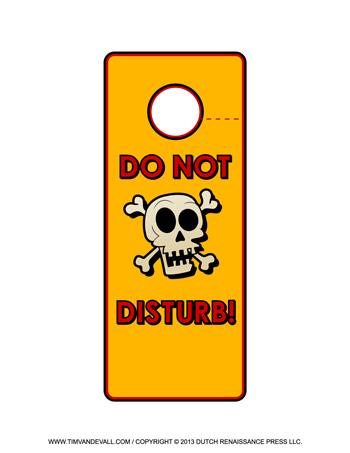Free printable door hanger templates blank downloadable pdfs for Free do not disturb door hanger template