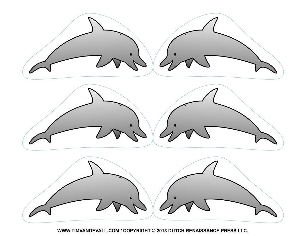 Как сделать трафарет дельфина своими руками 79
