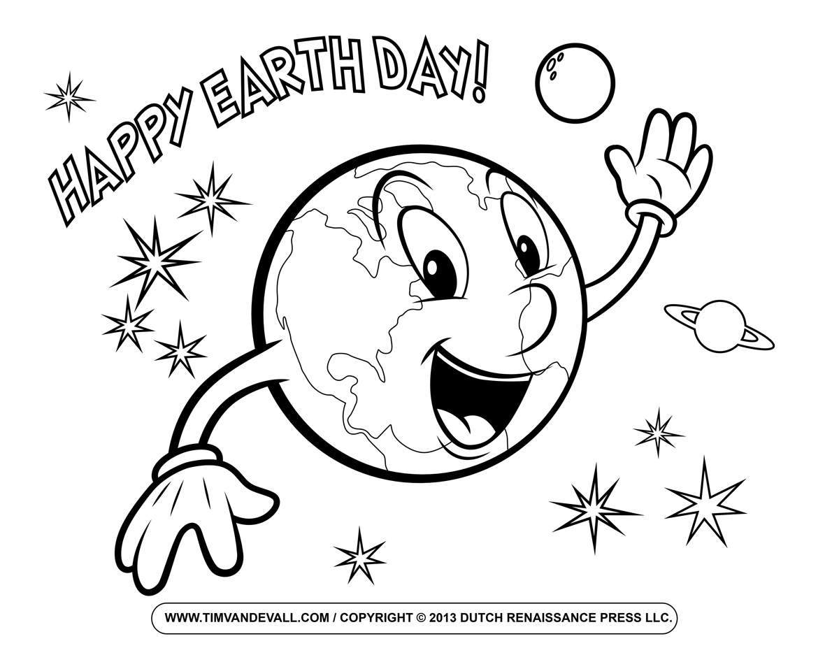 Printable Earth Day Coloring Pages For Kids Earth Day Coloring Pages