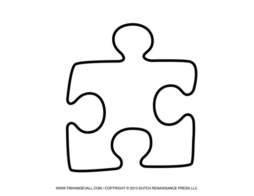 Blank Puzzle Piece Template Free Single Images Pdf