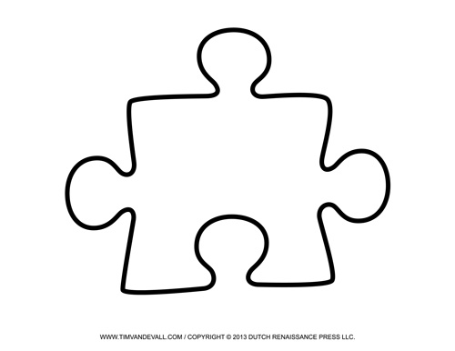 Blank puzzle piece template free single puzzle piece for Puzzle cut out template
