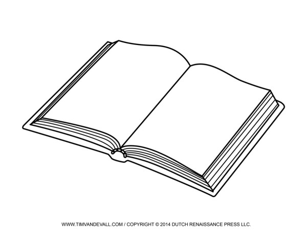 open book template tim s printables