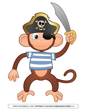 Pirate Monkey Clip Art