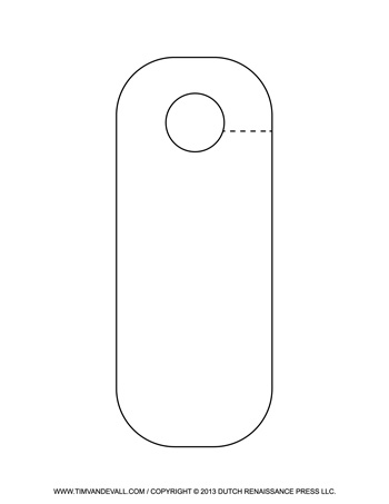Rounded Door Hanger Template