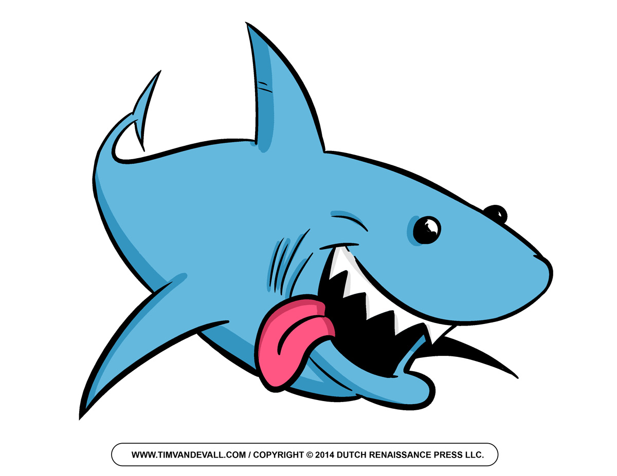 Free Cartoon Shark Clipart