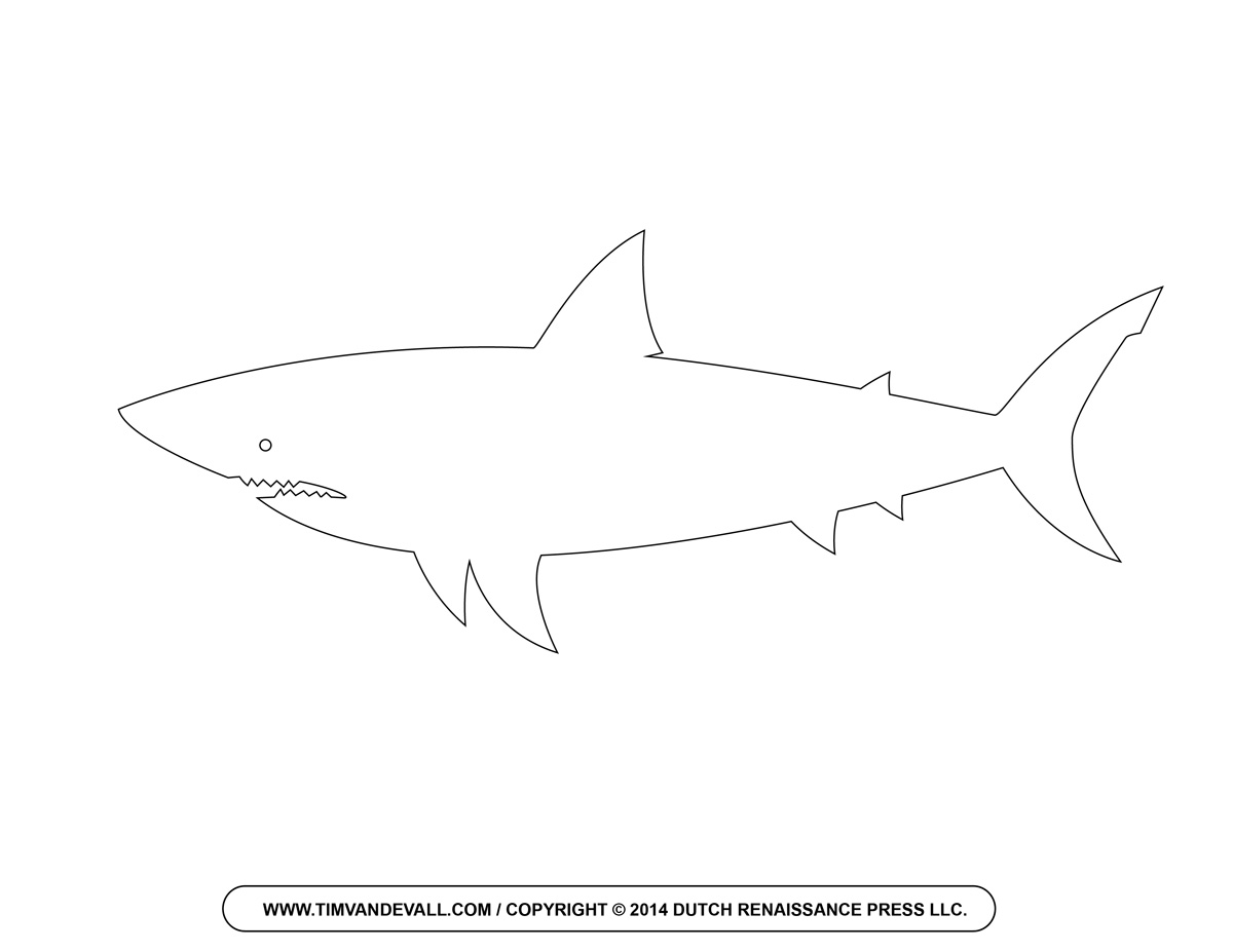 Workbooks shark worksheets for kids : Free Cartoon Shark Clipart, Shark Outline and Shark Silhouette