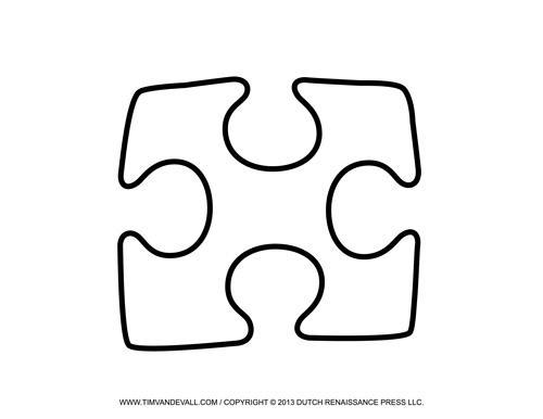 Single Puzzle Piece Template