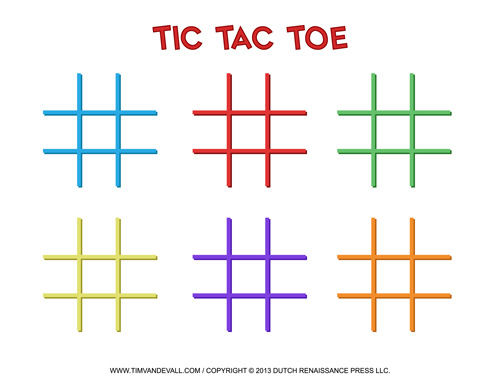 Free Printable Tic-Tac-Toe Templates | Blank PDF Game Boards