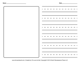 Creative Storytelling For Kids Story Template  Blank Writing Sheet
