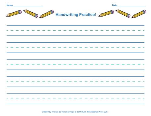 Free Handwriting Practice Paper for Kids – Alphabet Worksheets for Kindergarten Pdf