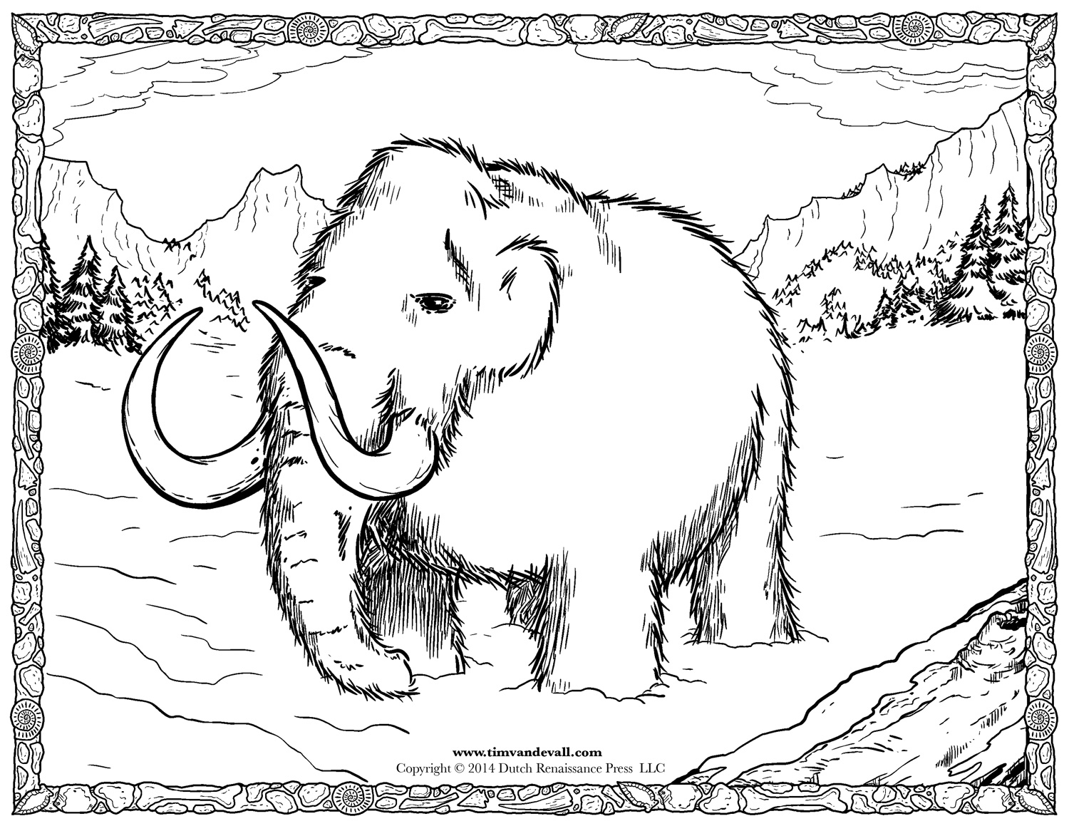 Woolly mammoth facts for kids social studies printables for Wooly mammoth coloring page