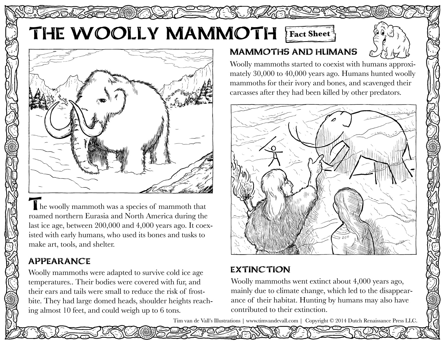 Woolly Mammoth Facts for Kids | Social Studies Printables