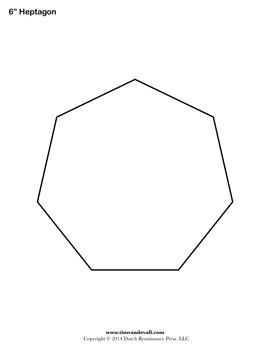 Common Worksheets shapes heptagon : Printable Heptagon Templates | Blank Heptagon Shape PDFs