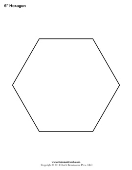 Printable Hexagon Shape