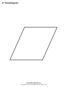 Printable Parallelogram Shape