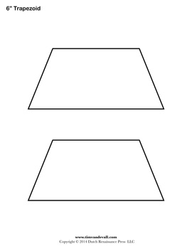 Printable Trapezoid Shape