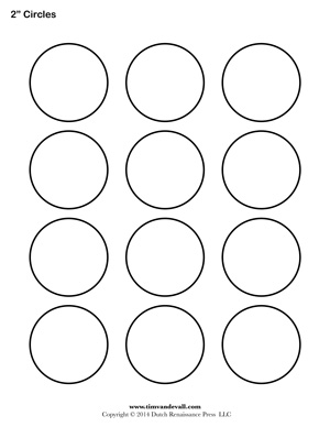 graphic about 2 Inch Circle Template Printable called Circle Templates Blank Form Templates Free of charge Printable PDF