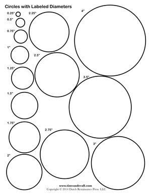 picture about Circles Printable titled Circle Template Printables - Tims Printables