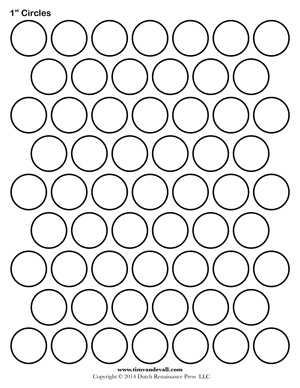 photo about Circles Printable called Circle Template Printables - Tims Printables