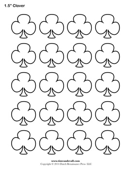Blank Clover Templates | Printable Shamrock / Clubs Template