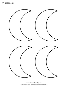 printable cresent shapes coloring pages - photo#18
