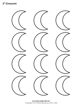 Printable Crescent Outline