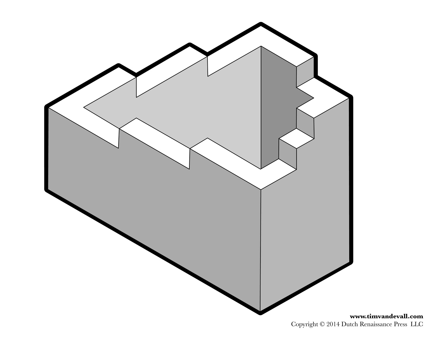 how to draw easy optical illusions stairs