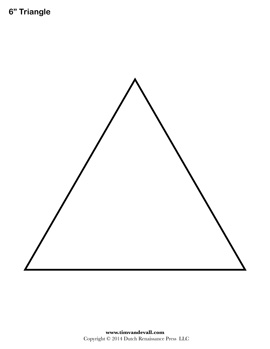 printable triangle shape